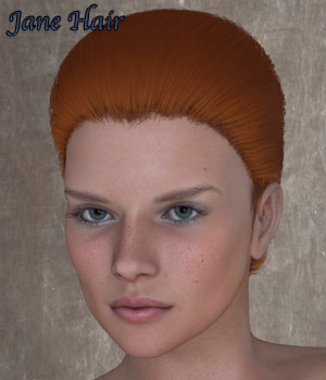 Jane Hair For V4 Poser 3D Figure Assets RPublishing
