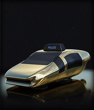 Future Car Two 3D Models EdArt3D