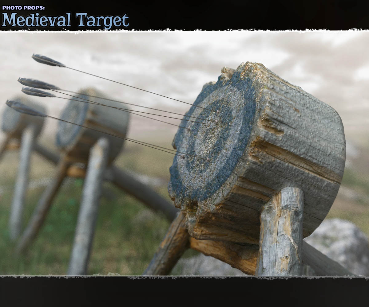 Photo Props: Medieval Target - Extended License