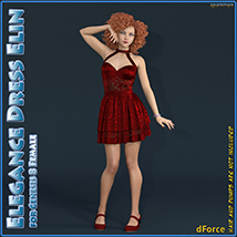 dForce Elegance Dress Elin for Genesis 8 Female image 1