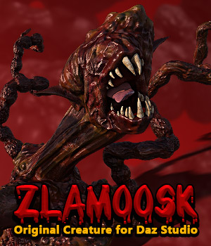 ZLAMOOSK standalone character for Daz Studio 3D Models powerage