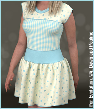 Eloise Dress and 10 Styles for PE, V4, Dawn and Pauline 3D Figure Assets karanta