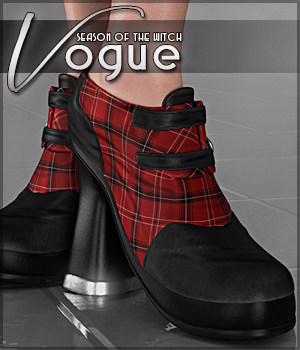 Vogue for Season of the Witch Shoes 3D Figure Assets Sveva