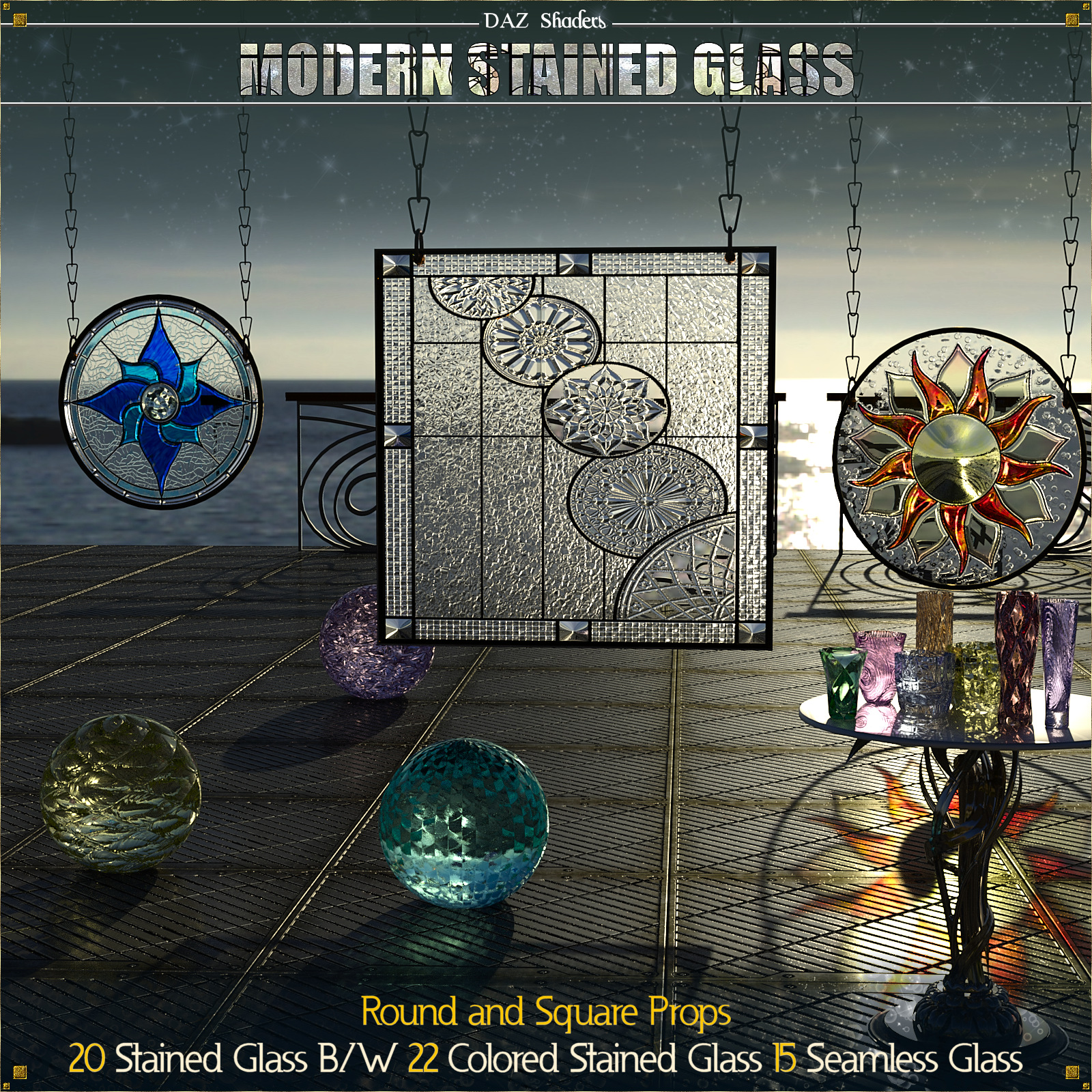 Modern Stained Glass for DAZ