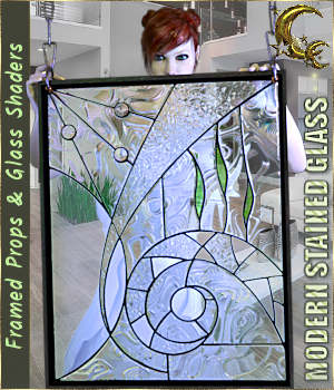 Modern Stained Glass for DAZ 3D Figure Assets 3D Models Cyriona