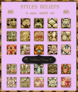 Styles Reliefs 2D Graphics Merchant Resources Perledesoie