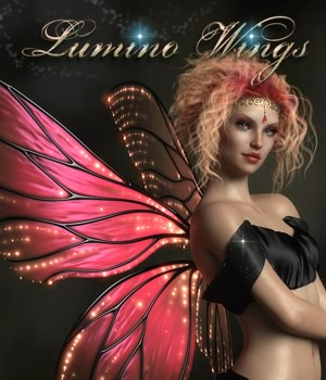 Lumino Wings for G3F & G8F 3D Models fabiana