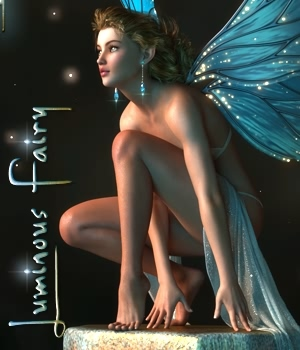 Luminous Fairy Poses and Props for G3F & G8F by fabiana