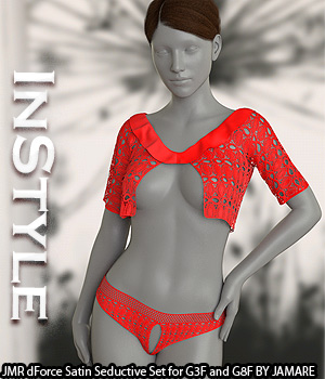 InStyle - JMR dForce Satin Seductive Set for G3F and G8F 3D Figure Assets -Valkyrie-