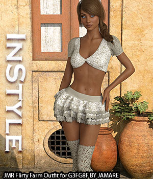 InStyle - JMR Flirty Farm Outfit for G3FG8F 3D Figure Assets -Valkyrie-