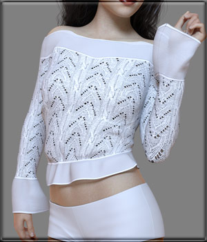 Faxhion - X-Fashion Crochet Lace Top 3D Figure Assets vyktohria