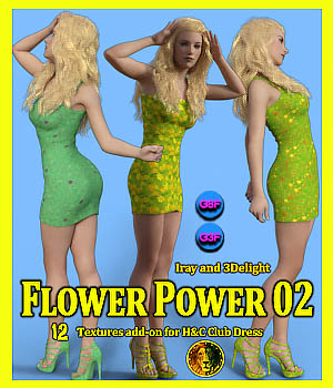 Flower Power 02 for Genesis 8 Female and Genesis 3 Female 3D Figure Assets Lyone