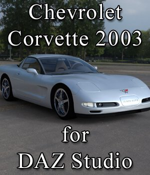 Chevrolet Corvette 2003 for DAZ Studio 3D Models Digimation_ModelBank