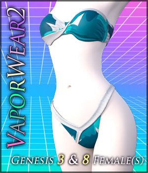 VaporWear2 for Genesis 3 & 8 Females 3D Figure Assets Quanto