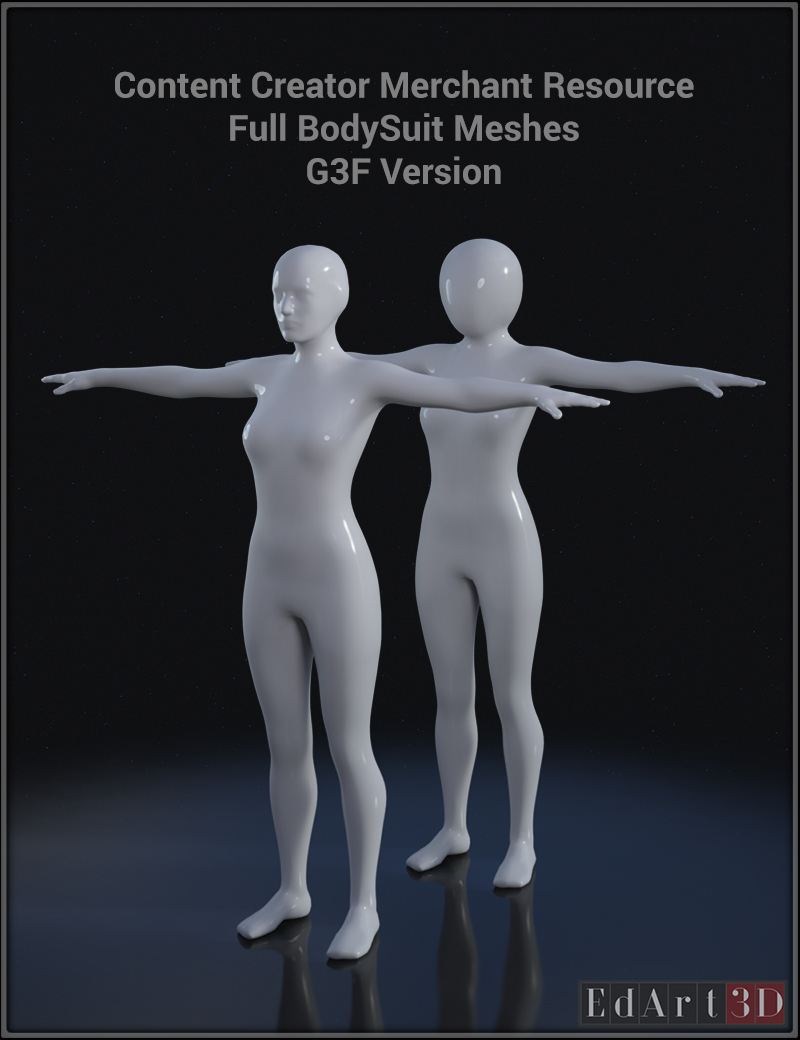 Full Body Suit Meshes for G3F - Content Creator MR