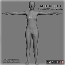 Full Body Suit Meshes for G3F - Content Creator MR  image 1