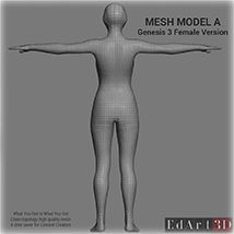 Full Body Suit Meshes for G3F - Content Creator MR  image 2