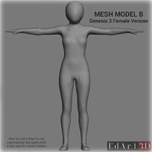 Full Body Suit Meshes for G3F - Content Creator MR  image 3