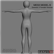 Full Body Suit Meshes for G3F - Content Creator MR  image 4