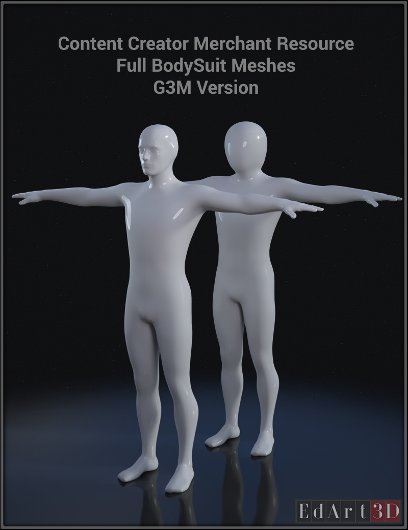 Full Body Suit Meshes for G3M  - Content Creator MR