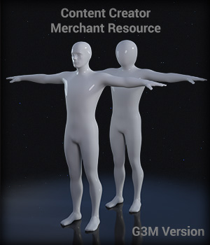 Full Body Suit Meshes for G3M  - Content Creator MR  Merchant Resources EdArt3D