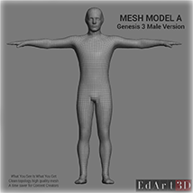 Full Body Suit Meshes for G3M  - Content Creator MR  image 1