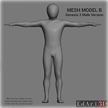 Full Body Suit Meshes for G3M  - Content Creator MR  image 3