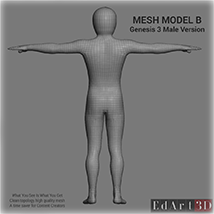 Full Body Suit Meshes for G3M  - Content Creator MR  image 4