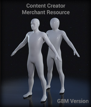 Full Body Suit Meshes for G8M - Content Creator MR Merchant Resources EdArt3D