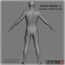 Full Body Suit Meshes for G8M - Content Creator MR image 2