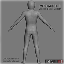 Full Body Suit Meshes for G8M - Content Creator MR image 4