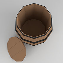 Barrel Low Poly - Extended License image 1