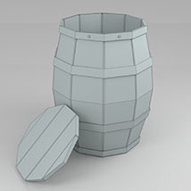 Barrel Low Poly - Extended License image 2