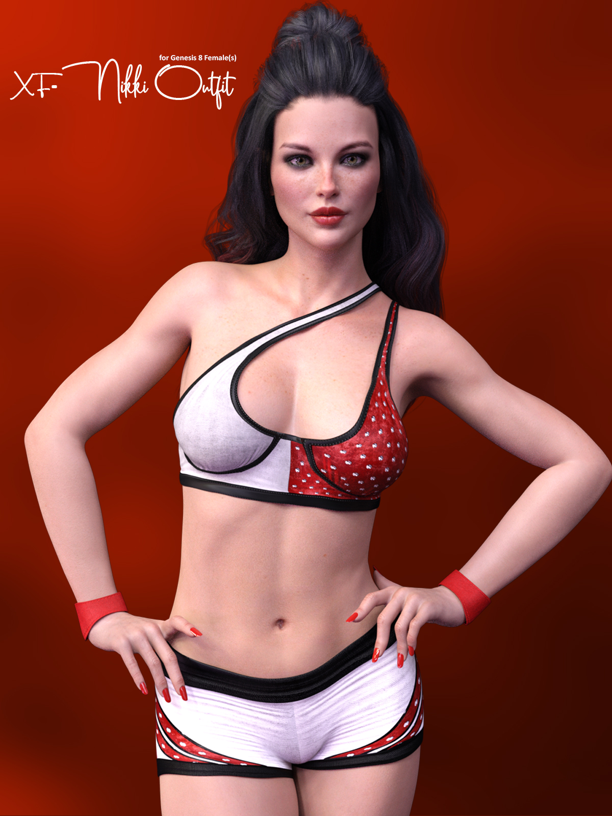 X-Fashion Nikki Sport Outfit for Genesis 8 Females