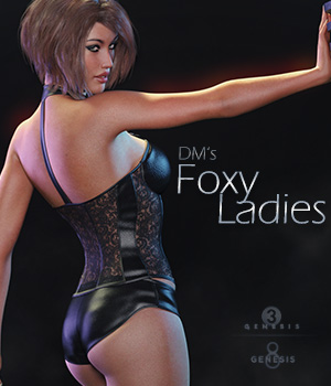 DMs Foxy Ladies 3D Figure Assets 3D Models DM