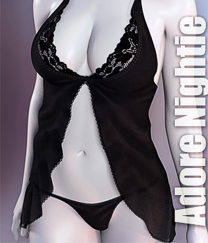 dForce Adore Nightie for Genesis 8 Females 3D Figure Assets lilflame