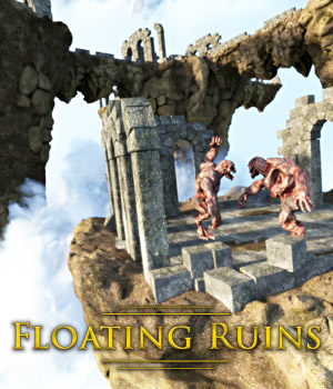 Floating Ruins for DS Iray 3D Models powerage