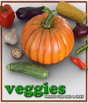 Exnem Veggies for Daz Studio Iray 3D Models exnem