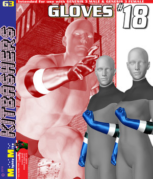 Gloves 018 MMKBG3 3D Figure Assets MightyMite