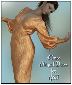 dForce - Abigails Dress for G8F 3D Figure Assets Lully