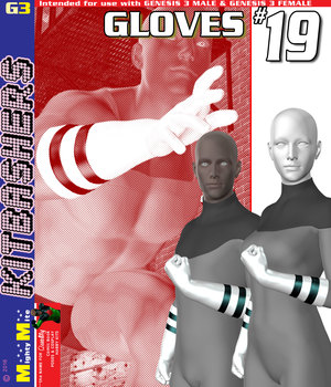 Gloves 019 MMKBG3 3D Figure Assets MightyMite