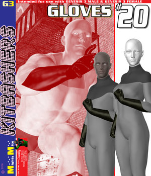 Gloves 020 MMKBG3 3D Figure Assets MightyMite