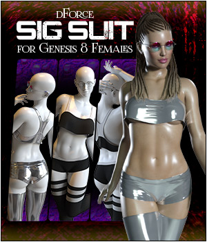 dForce Sig Suit for Genesis 8 Female 3D Figure Assets SWTrium