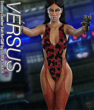 VERSUS - Entirety Leather Suit for Genesis 8 Female(s) 3D Figure Assets Anagord