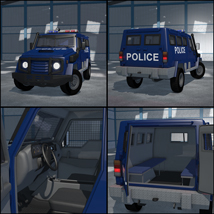 Armoured vehicle for Poser image 3