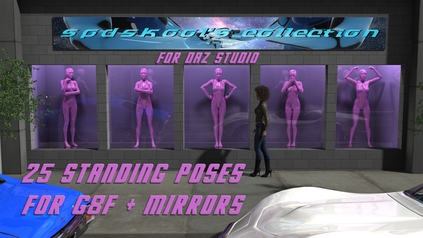 25 Standing Poses for G8F + Mirrors by spdskool