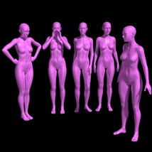25 Standing Poses for G8F + Mirrors image 1