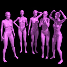 25 Standing Poses for G8F + Mirrors image 3