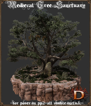 Medieval Tree Sanctuary 3D Models Dante78