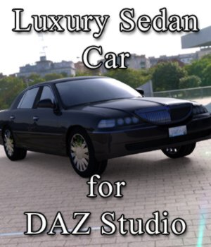 Luxury Sedan Car (for DAZ Studio) 3D Models VanishingPoint
